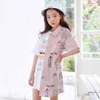 Girls Summer Fashion Cotton Dresses Newly Designed Kids Fashion Clothes korean design fashion clothes