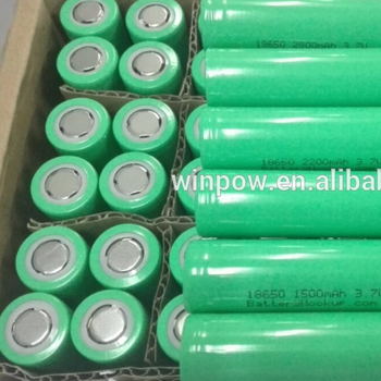 Wholesale price 3.7v 18650 2200mah li ion cylinder lithium battery
