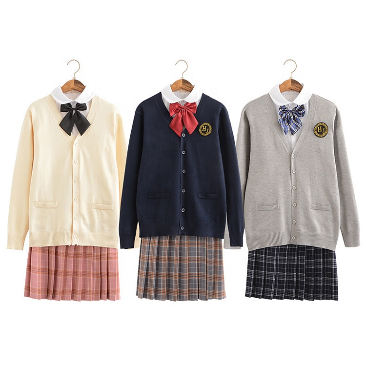 Summer wear Customization japanese School Uniform shirts wholesale Set
