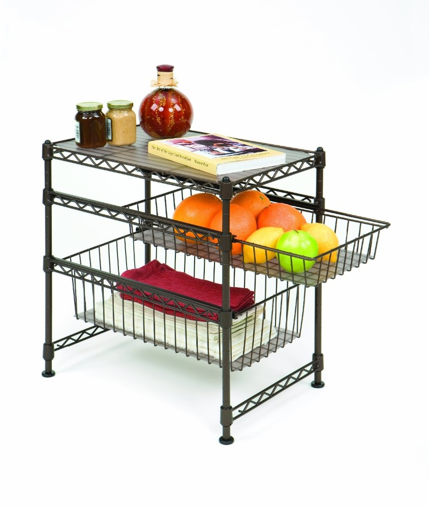 Metal Wire Kitchen Rack With 4 Wheels,Kitchen Storage Rack Trolley Cart -  Buy Kitchen Rack,Kitchen Storage Rack,Kitchen Storage Rack Trolley Product  ...