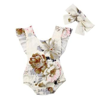 1 Pcs Floral Baby Girl Clothes Rompers Suppliers New Born Baby Clothes