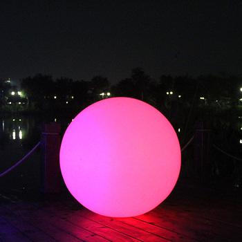 Rechargeable IP68 waterproof outdoor waterproof LED luminous round led light ball