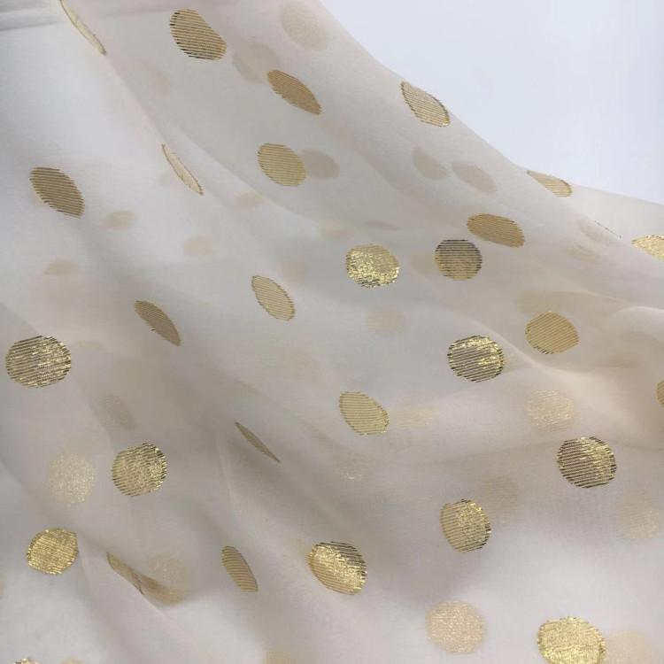 silk metallic dot ggt fabric for dress clothes