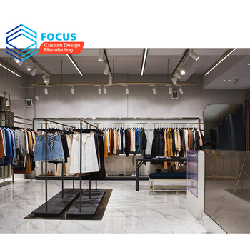 guangzhou retail clothes display shop interior design garment store furniture