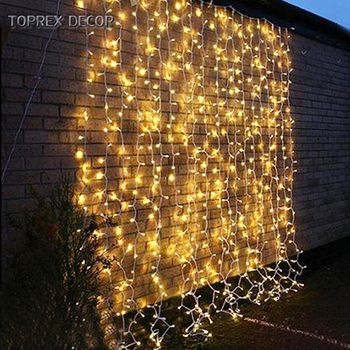 Safety connectable waterproof led fairy light string curtain wedding decoration lights