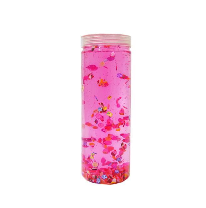 Большой контейнер, блестящий слайм, полимерные ломтики, слайм, кристальная почва для детей