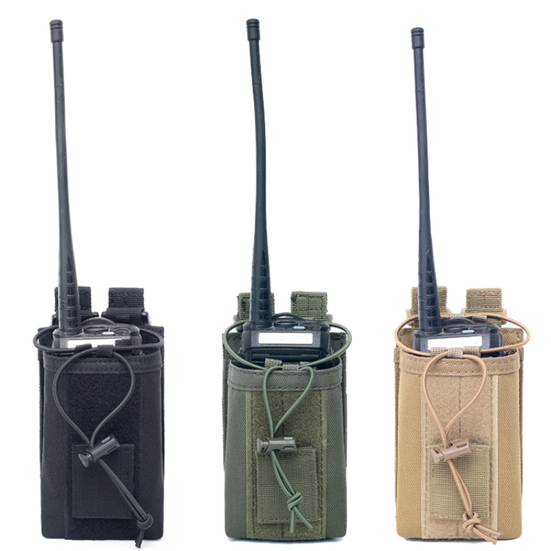 US Tactical Molle Radio Walkie Talkie Holder Bag Outdoor Military Magazine Pouch