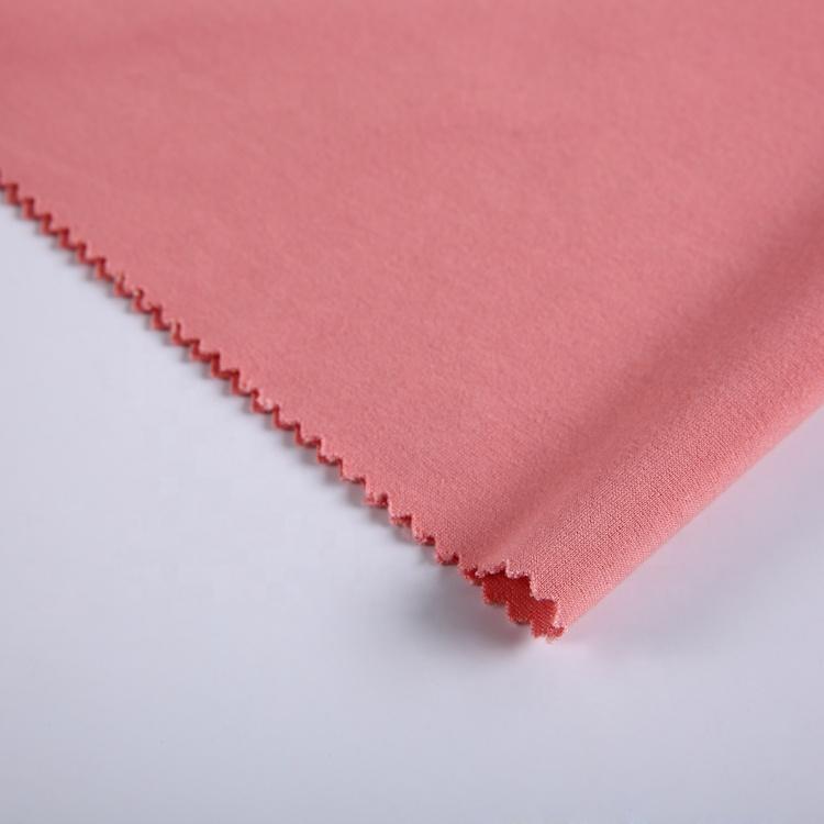 New design 330gsm plain pink for pants spandex rayon nylon ponte knit fabric roma