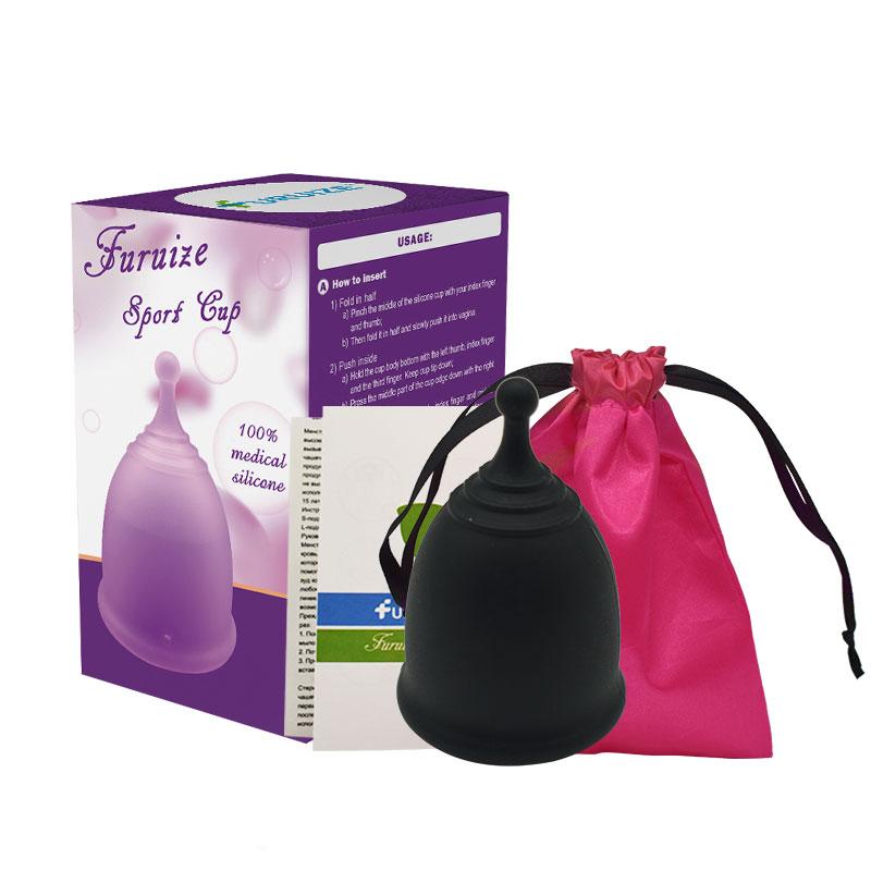 Черные менструальные чаши премиум-класса из силикона для многоразового использования
