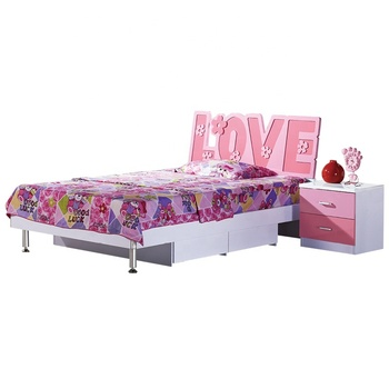 New design Children bedroom furniture Kids Love Theme Princess Bed Girls' Living Room Furniture Set wholesale