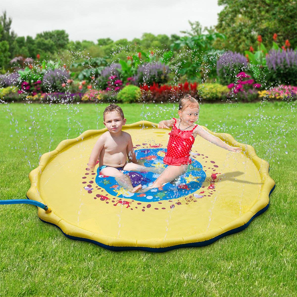 170 CM Sprinkle and Splash Play Mat children's water sprinkler