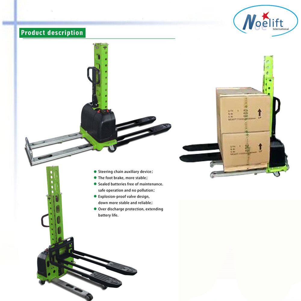 New condition 500kg 1m in stock self loading forklift pallet truck