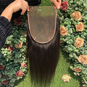 Transparent swiss lace closure 7x7 3D lace closure,human hair with lace frontal closure,top closure human Virgin hair wholesale