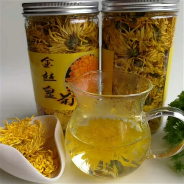 Jinsihuangju Gold Emperor Chrysanthemum Flower Tea with whole flower - 4uTea | 4uTea.com
