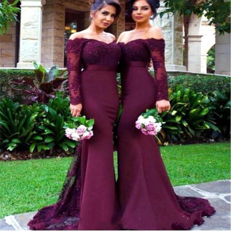 Сексуальные африканские платья подружки невесты, кружевные платья подружки невесты с аппликацией, 2021 для свадебного платья, платье подружки невесты с длинным рукавом