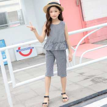 Summer kid girl clothing sets The Latest Designed Girl's Fashion sets in Korean Version 2019