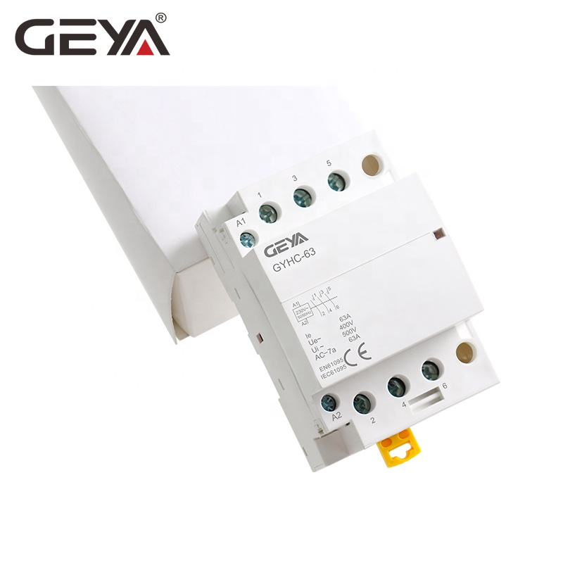 GEYA GYHC 3P 40A 63A Contactor 3NO 110V 220V AC Coil Electrical Magnetic Contactors with CE CB Certificate