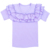 Summer Clothes For Baby Girls Purple Short Sleeve Shirt Ruffle Summer