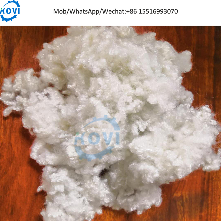Silicon polyester staple fiber for pillow filling material