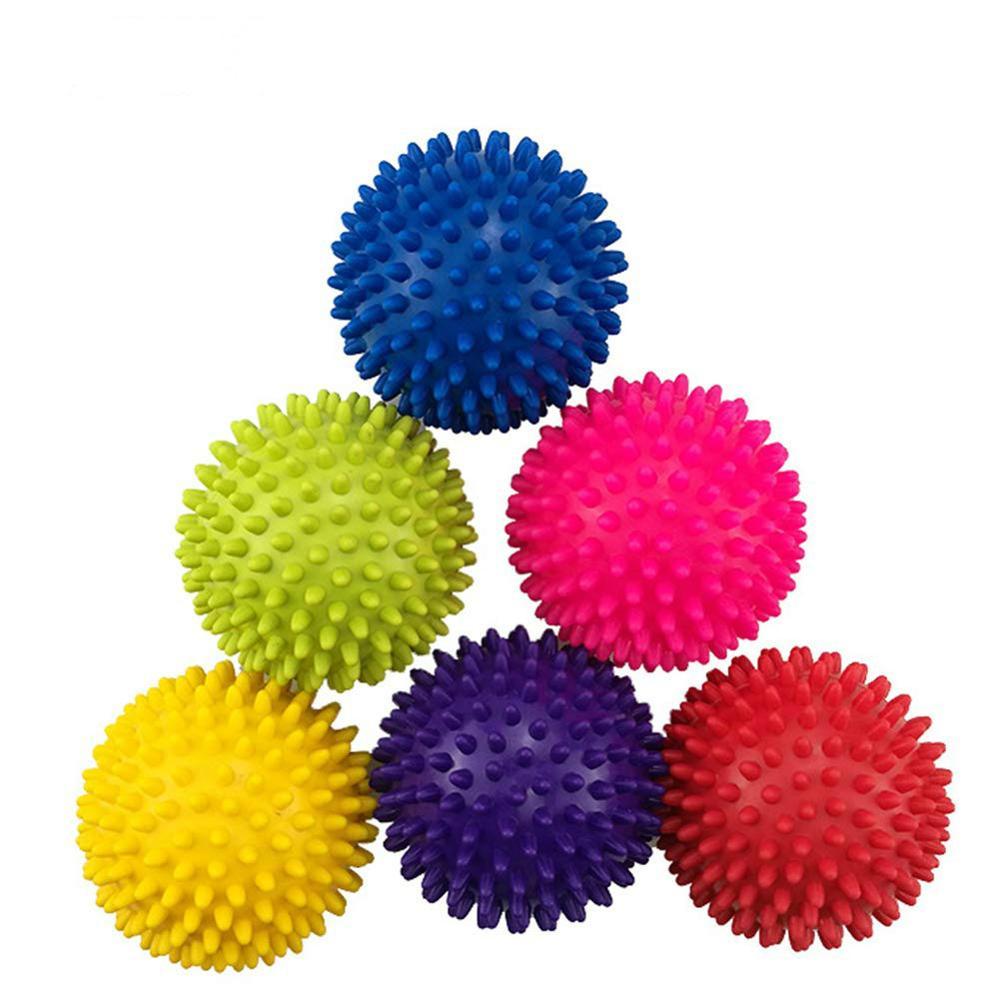 7.5cm Yoga Spikey Massage Gym Balls Spiky Therapy Ball Roller Reflexology