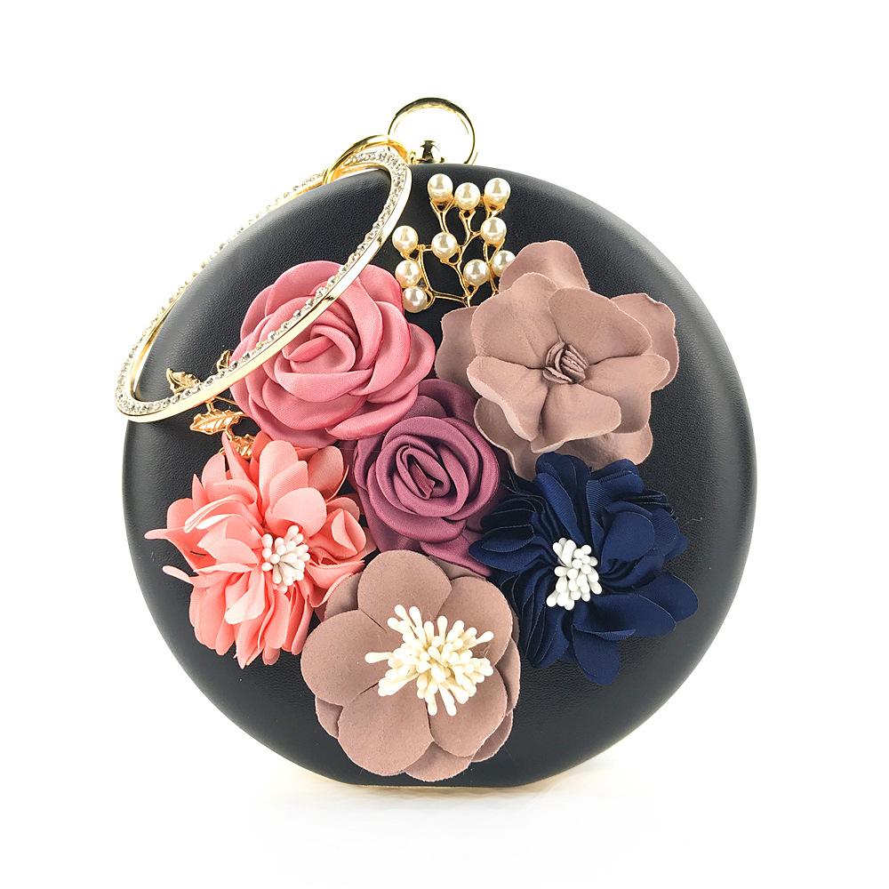 Взрывные Модели желаний, круглая Сумка-клатч ручной работы с цветами для вечернего ужина, вечеринки