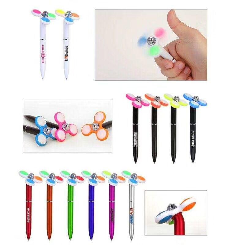 china supplier wholesale multifunction novelty custom logo fidget spinner fancy pen