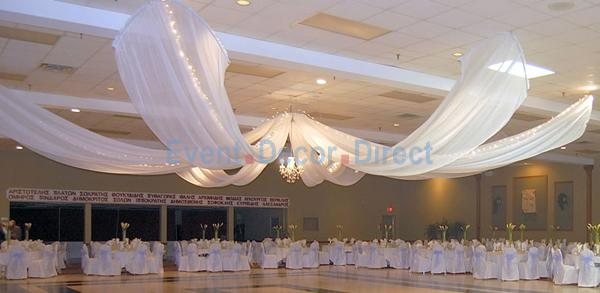 Luxury Graduation Prom Ceiling Decoration Drape Fabric