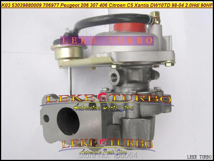 K03 53039880009 53039700009 706977-0003 Turbo Turbocharger For Peugeot 206 307 406 Citroen C5 Xantia DW10TD RHY 1998-2004 2.0L HDI 90HP (1)