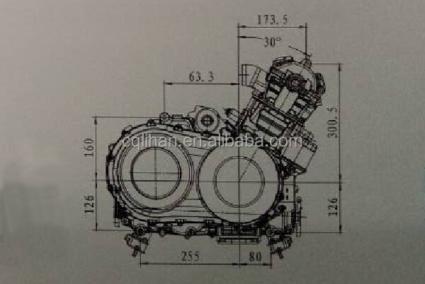 4 Stroke China 600cc Utv Engine 4 Valve Utv Cvt