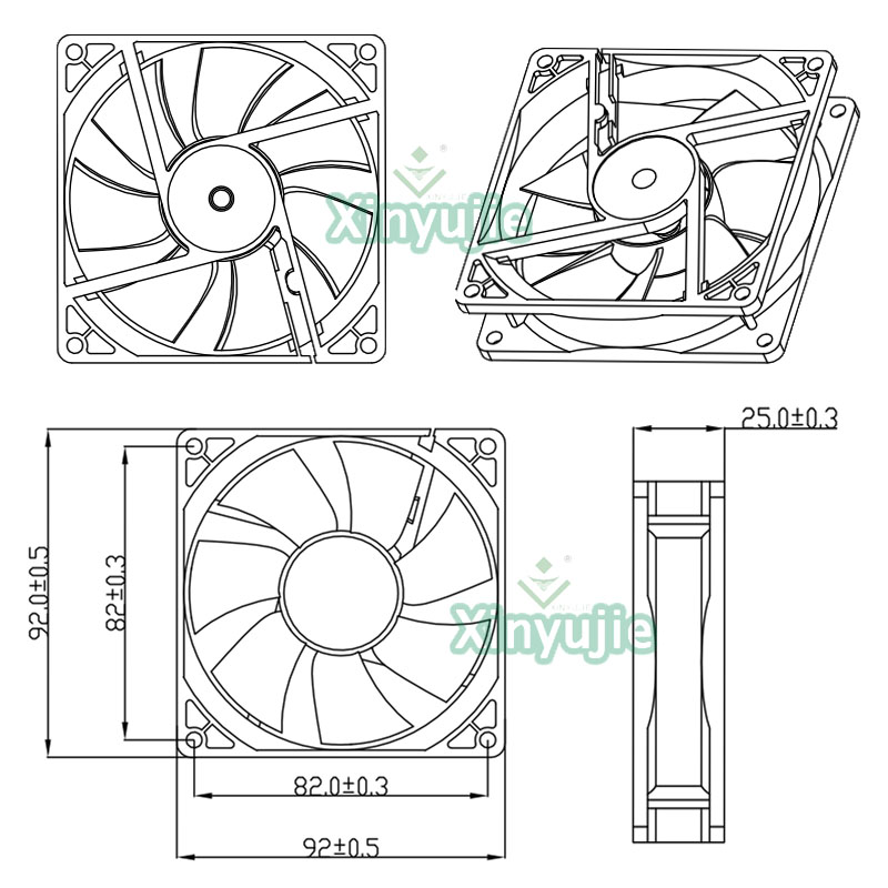 Source Small Computer Exhaust Fan 5v Cpu Water Cooler 92mm Pc