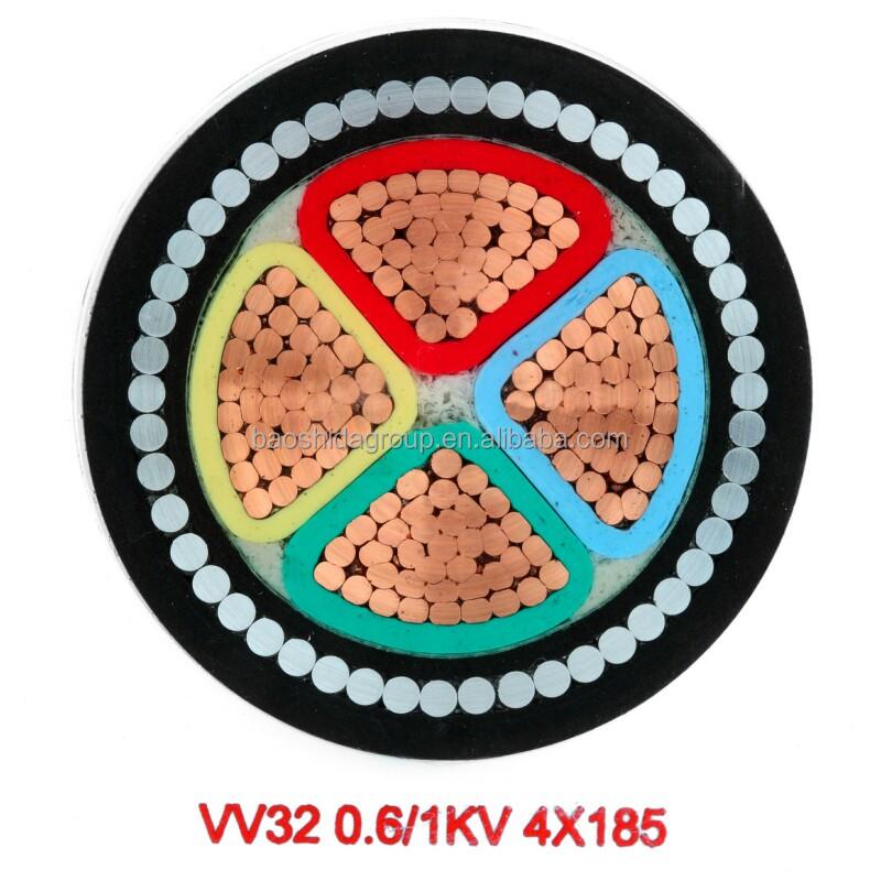 Pvc絶縁電源ケーブル、 最大定格電圧に0.6/1kv仕入れ・メーカー・工場