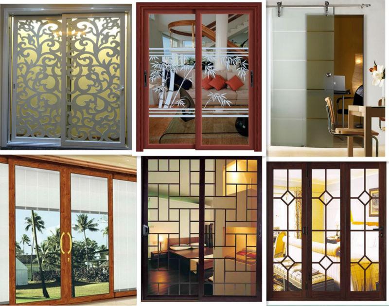 Door Grills Design Good Sealing Wooden Grain Aluminium