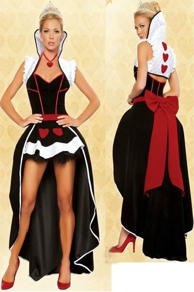 Free shipping New Poker Queen Deluxe Fantasy Costume Adults Girls Sexy Anime Princess Women Party Fancy Dress 1