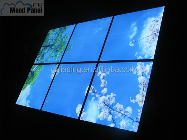 2014 600 600 mm artificielle puits de lumi re led panneau image du ciel voyants de led id de. Black Bedroom Furniture Sets. Home Design Ideas