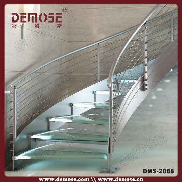 Stainless Steel Glass Stairs Grill Design Buy Glass