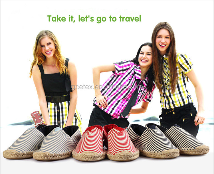 gce145 tissu imprim femmes avec jute espadrilles chaussures semelle et mocassins chaussures. Black Bedroom Furniture Sets. Home Design Ideas