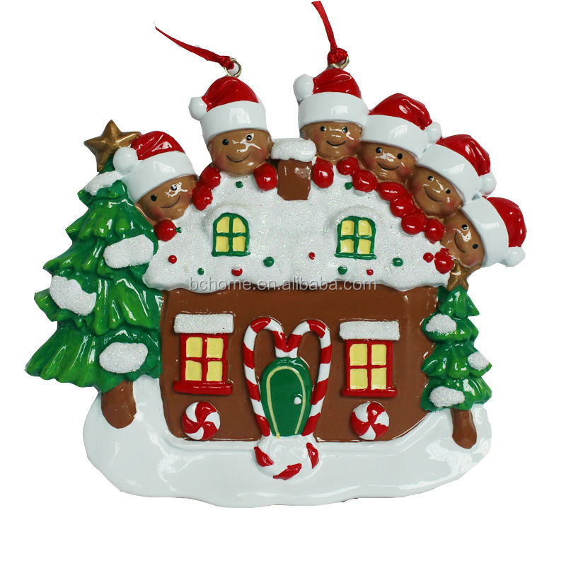 Handmade Poly Resin Personalized Christmas Tree Ornaments ...