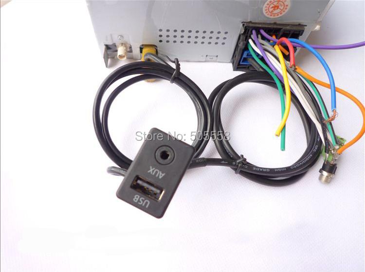 AUX USB SWITCH CABLE FOR RCD510 310 300 RNS315 VW MK6 GOLF JETTA CC PASSAT  B6 B7