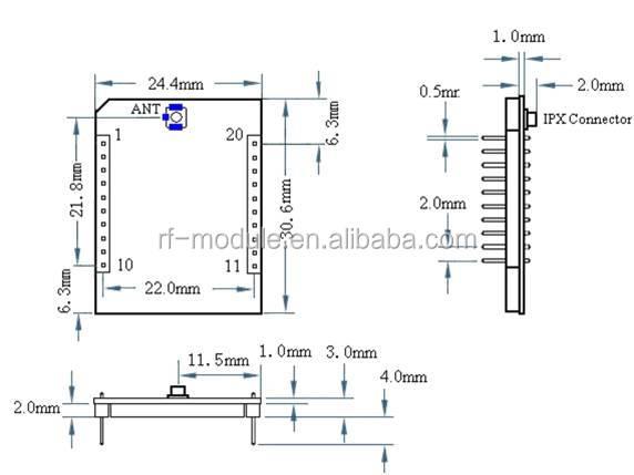 伝送距離850m低コスト7dbmジグビーモジュールzigbee価格仕入れ・メーカー・工場
