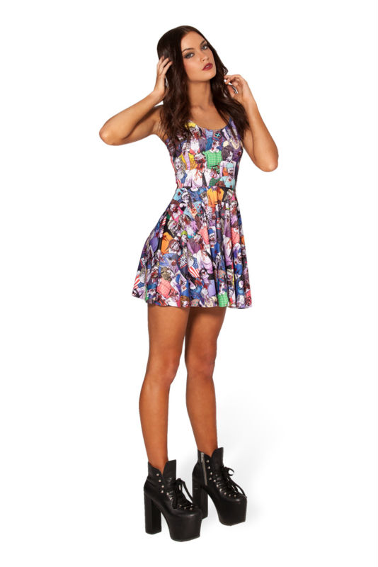 9b87ae314b ... Women fashion Pleated Skater Dress Print Skull Style Galaxy Hot Casual  Summer Dress Party. LY016 (1) LY016 (2) ...