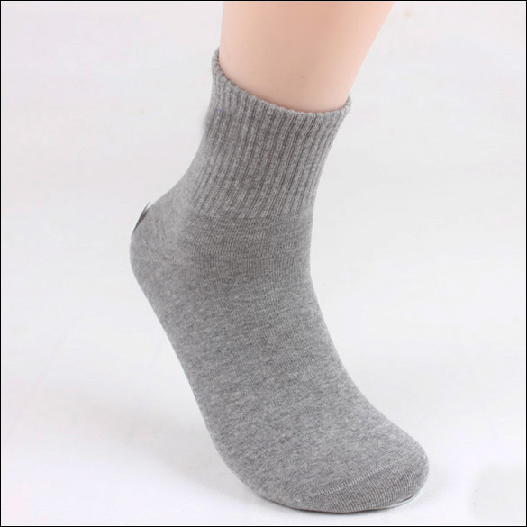 4e489717c4a High Quality 5 Pair Men Ankle Socks Men s Cotton Low Cut Socks One Size Grey