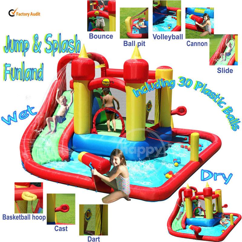 Happy hop inflatable bouncer 9016 children water slide for Happy hop inflatable water slide