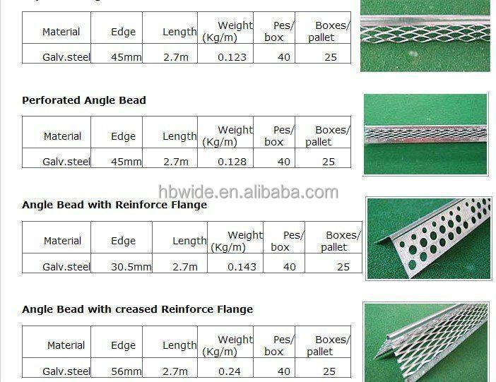 Pvc Angle Bead Pvc Corner Bead Construction Corner Bead