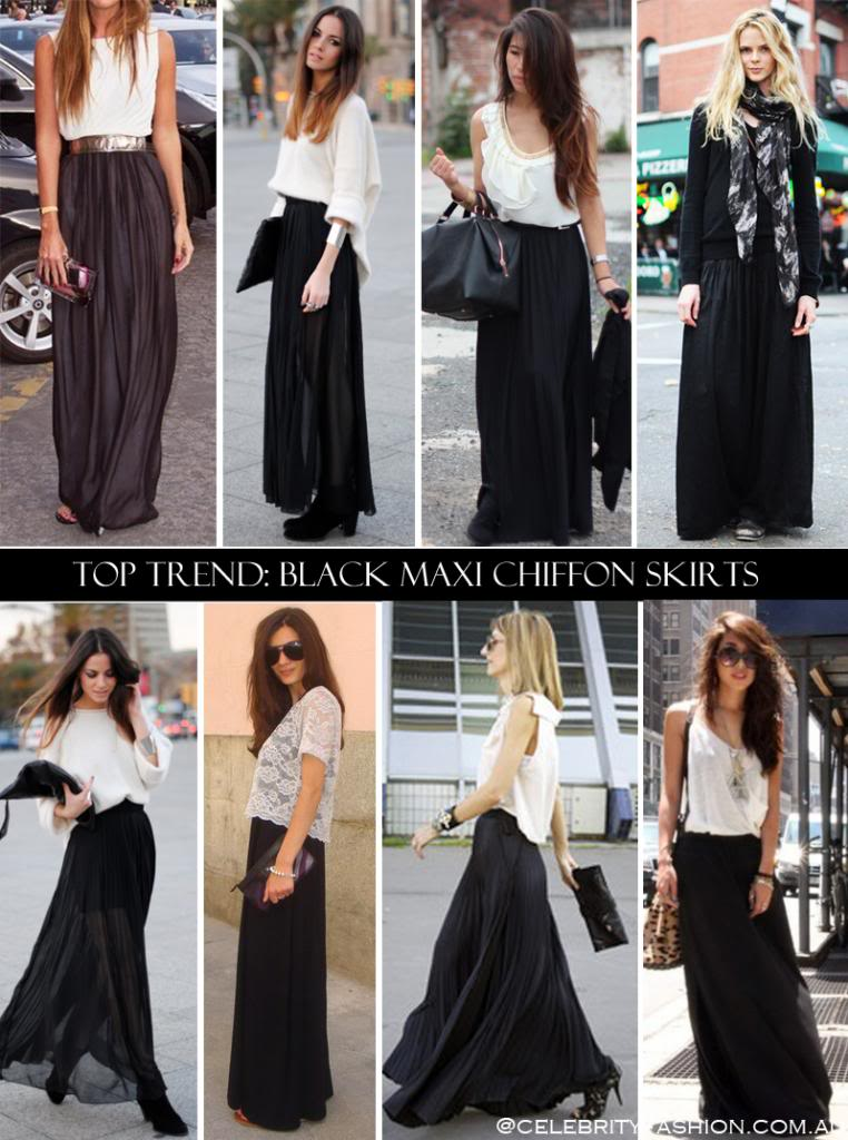 944de56033 Maxi skirts are great because they are more versatile: You can get more  creative and have fun by pairing them with almost any shirt, blouse, or  cami in your ...