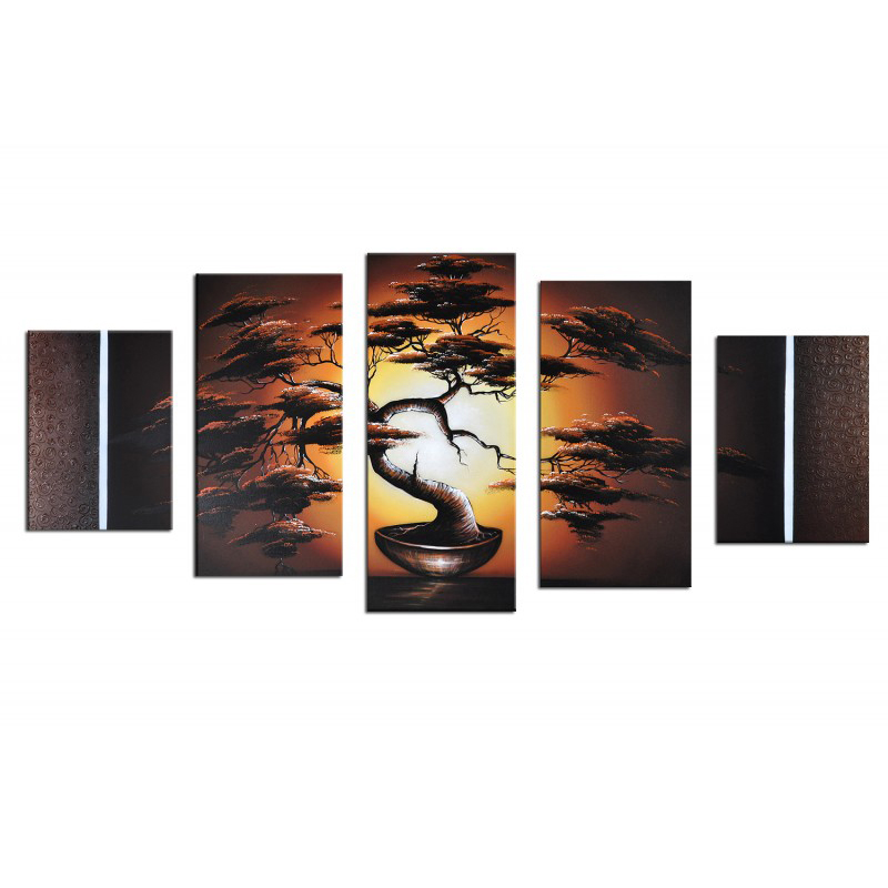Home Goods Artwork: Most Beautiful Home Goods Wall Art 5 Pieces Tree Landscape
