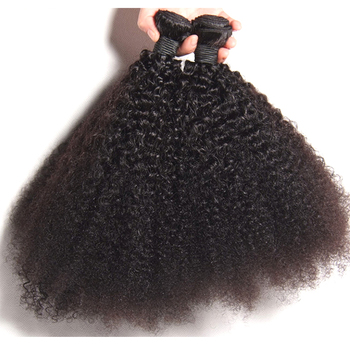 Wholesale Natural Cuticle Virgin Remy Kinky Curly bundles Extension Type 4a 4b 4c Human Hair