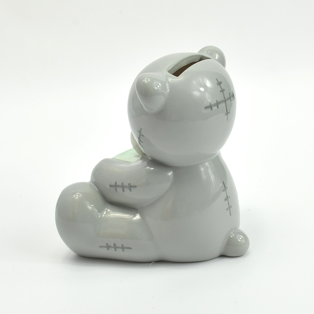 Personalized teddy bear wholesale mini ceramic piggy banks