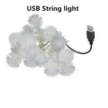 Сказочный светильник s, водонепроницаемый светодиодный шар, Сказочная гирлянда 50led USB/батарея, светодиодный светильник, рождественское свад...(Китай)