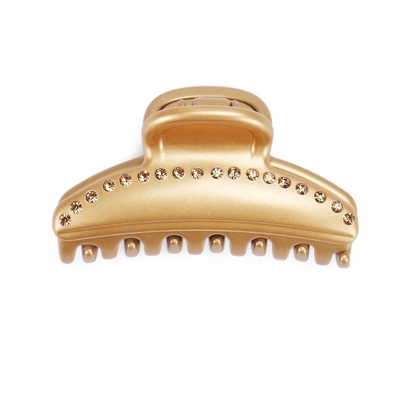 Classic Alexandre Hair Clip Golden Big Size Hair Claw France Acetate Rhinestone Vendome Hair Clip