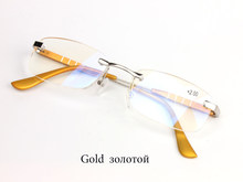 MEIXI синяя пленка оптовая продажа алюминиево-магниевый сплав очки для чтения для женщин и мужчин пожилых очки бескаркасные H D линзы(Китай)